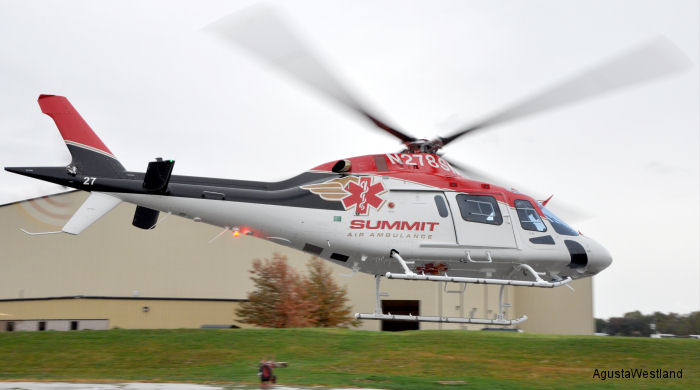 Summit Air Ambulance of Idaho gets first of two AW119Kx, an EMS equipped helicopter that will support their operations in the Northwest United States. The second AW119Kx will follow soon.