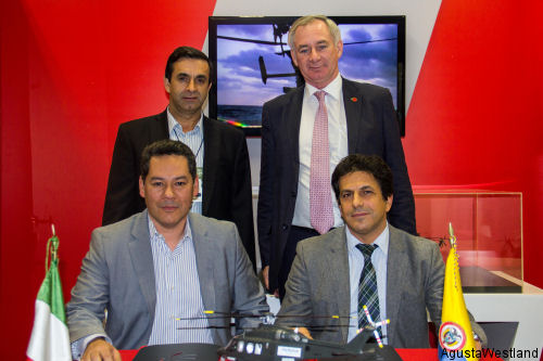 Helistar de Aviacion of Colombia has signed for two AW139 to be used in the Offshore transport