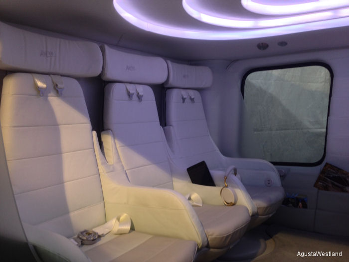 AgustaWestland Unveils High-Tech AW169 Cabin at LABACE