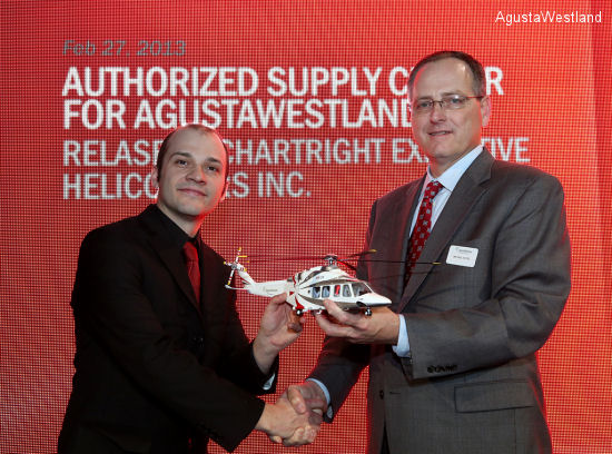 AgustaWestland Signs Agreement to Open Canadian Supply Center