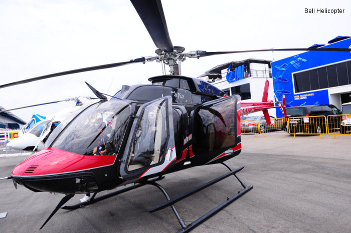 Bell 407GX on display at the Singapore Airshow 2014