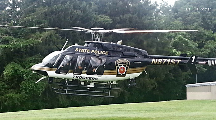 Bell Helicopter Delivers First Two of Six Bell 407GXs to the Pennsylvania State Police