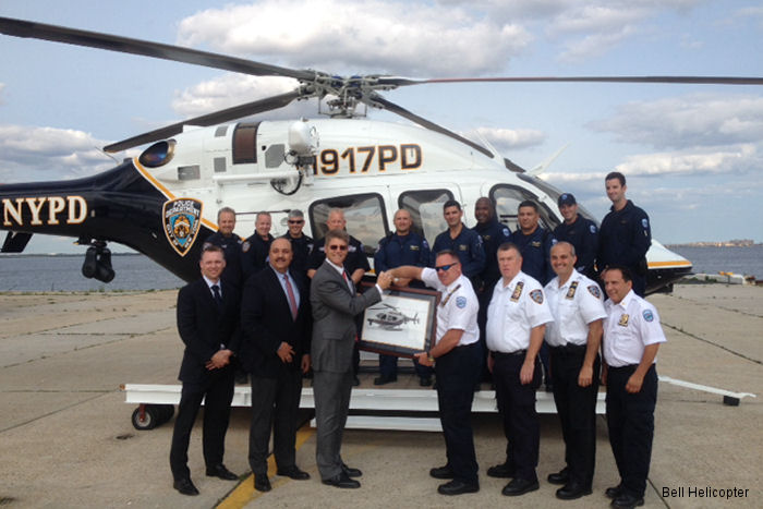 Bell Helicopter Delivers First Bell 429 to the New York Police Department