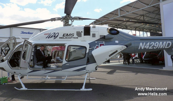 The Bell 429 EMS at Farnborough 2014