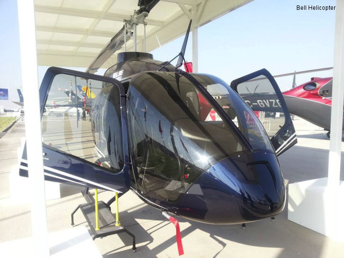 The Bell 505 Jet Ranger X at Aeropuerto Internacional Comodoro Arturo Merino Benítez, Chile during recent FIDAE 2014