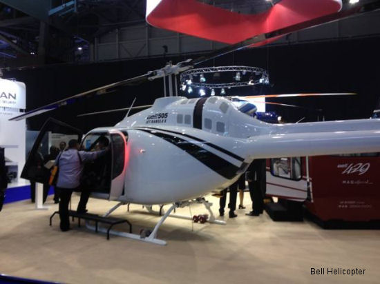 Bell 505 Jet Ranger X to Make European Debut at EBACE 2014
