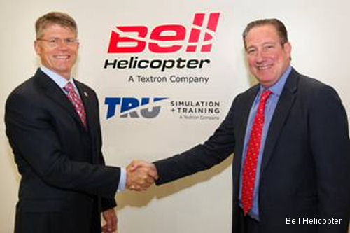 Bell Helicopter and TRU Simulation + Training Announce Training Center in Valencia, Spain
