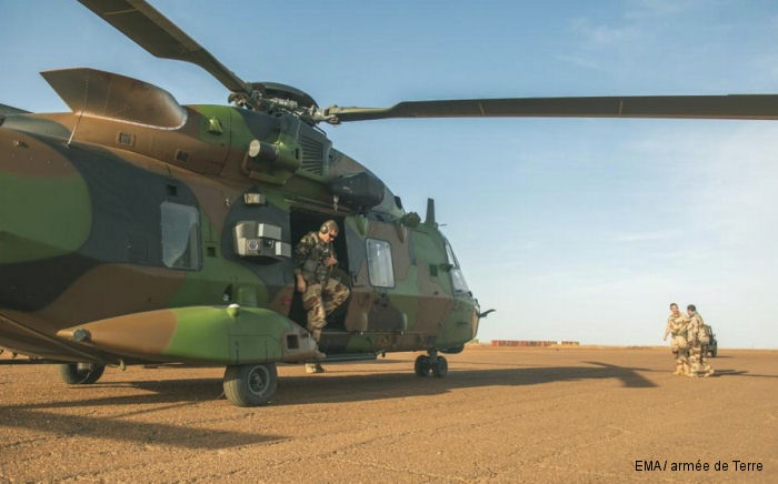 Operation Barkhane :  Two NH90 « Caïman » Arrived at Mali