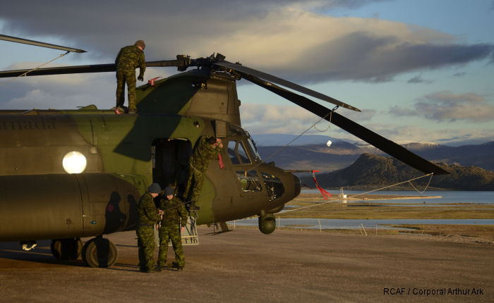CH-147F Chinook tested in Northern Canada