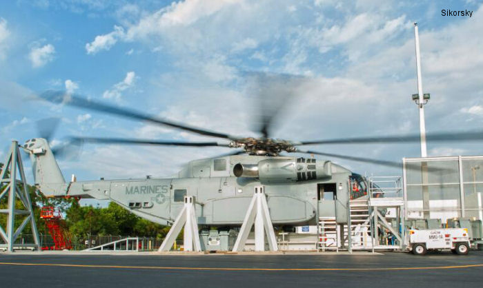Sikorsky Begins Powered Ground Tests of CH-53K Helicopter with Rotor Blades