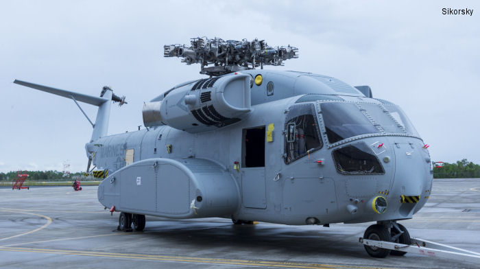 The first flight test CH-53K aircraft being delivered for evaluation. Exelis has been awarded a contract from Sikorsky to produce major structural airframe components for four production-representative CH-53K heavy lift helicopters. Exelis will fabricate and assemble the composite sponsons, the tail rotor pylon and the horizontal stabilizer.