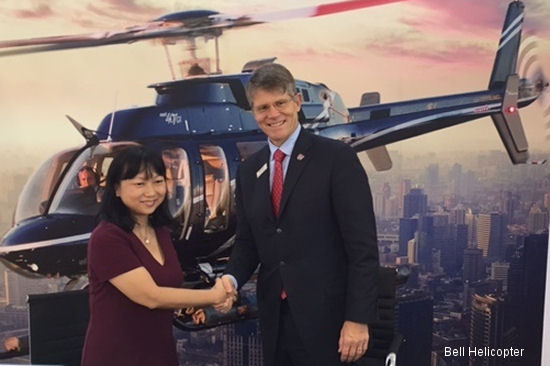Bell Helicopter continues to expand its regional presence in China, announcing it secured purchase agreements for the sale of 61 new helicopters at Airshow China 2014 in Zhuhai