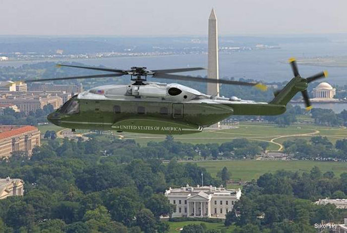 Sikorsky/Lockheed-Martin S-92 was choose as the <a href=/database/modelorg/2574/>new presidential helicopter</a> last May