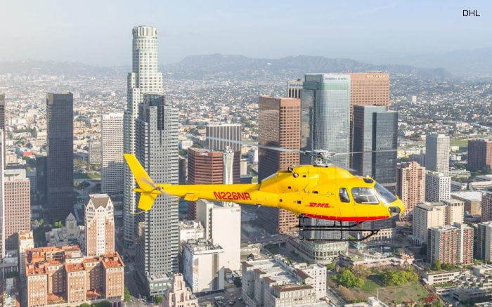 DHL dodges traffic with Los Angeles helicopter service