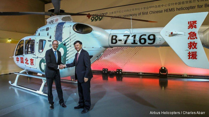 Twin-engine EC135 will become the reference helicopter for Chinese airborne emergency medical services operations