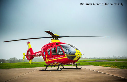 Midlands Air Ambulance Charity fully-owned Airbus Helicopters EC135 T2e enters service
