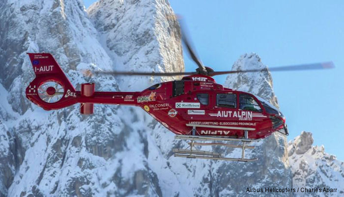 The world first EC135T3 is now in service with Aiut Alpin Dolomites a northern Italy-based Alpine mountain rescue service.