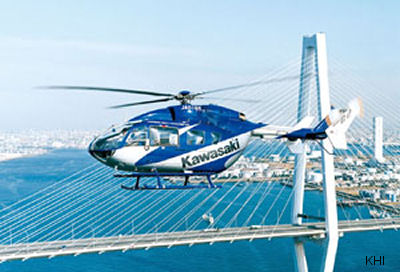 Kawasaki Heavy Industries announced that the Ehime Prefectural Government has signed a deal for the latest Kawasaki BK117C-2 (EC145) helicopter