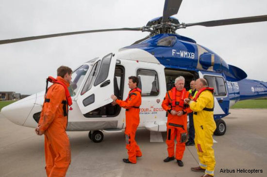 EC175 launch customer NHV holds demo flights in Belgium