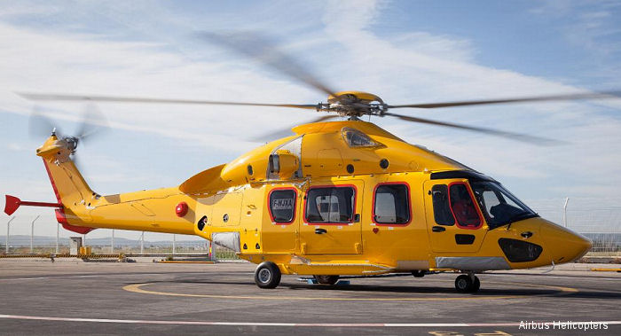 Airbus Helicopters delivered first 2 of 16 EC175 to launch custormer NHV of Belgium which will begin service this month from the Dutch North Sea base of Den Helder on oil and gas offshore missions.