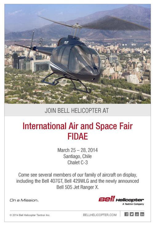 Bell Helicopter to Showcase Latest Commercial Product Offerings at FIDAE 2014