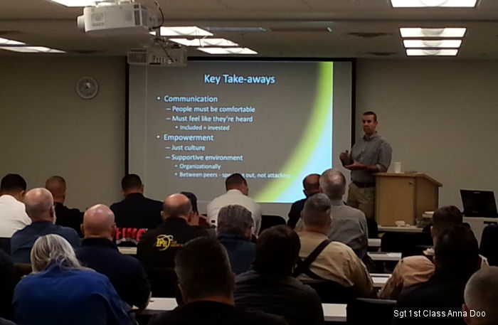 The 4th New Mexico Helicopter Safety Day, hosted at the Santa Fe Aviation Readiness Center, gave civilian, law enforcement and military entities safety information with the aspects of rotary flight.
