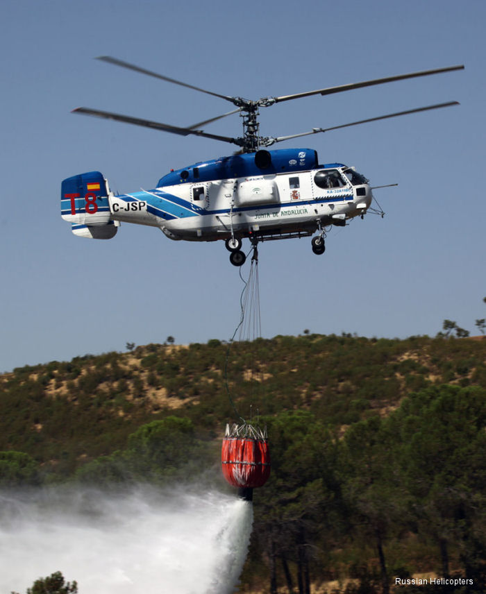 Russian Helicopters showcases fire-fighting helicopter at Helitech International