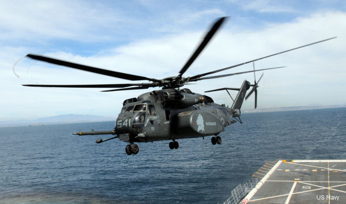 USS Anchorage supports HM-14 airborne mine countermeasures training, RIMPAC 2014
