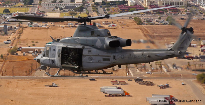 US Marine Light Attack Helicopter Squadron 267 based at Marine Corps Base Camp Pendleton, California spent a week-long deployment for training exercise at Marine Corps Air Station Yuma, Arizona