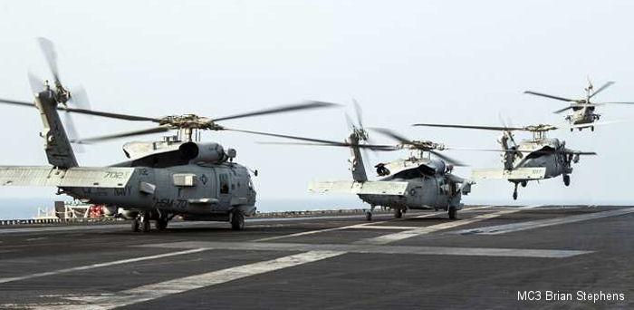 HSM-70 flew the <a href=/database/model/821/>MH-60R</a> Romeo Seahawk helicopter