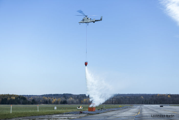 Unmanned Team of K-Max Helicopter and Indago Quadrotor Demonstrate Firefighting Capability