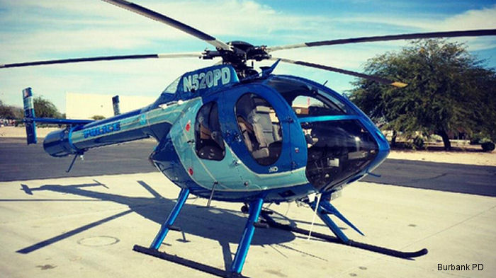 Burbank and Glendale Police Joint Air Support Unit located in the state of California received their fourth MD Helicopters MD 520N helicopter.