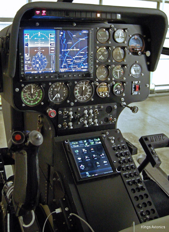 Kings Avionics Completes First Retrofit Slant-Panel, GTN 750 Installation Into MD520N Helicopter