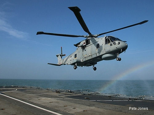 Merlin Mk2 initial trials on Type 23 frigate