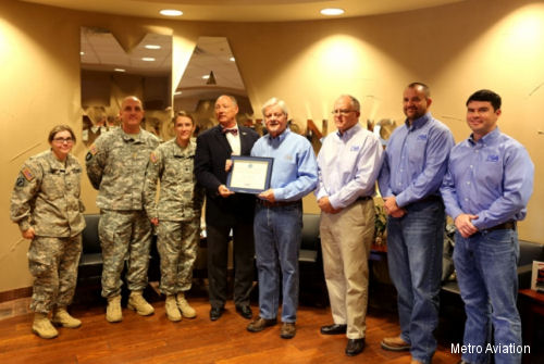 Metro Aviation Honored by Department of Defense