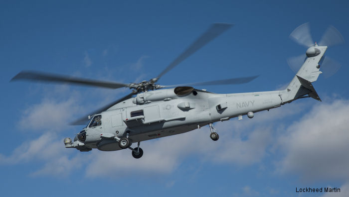 "The U.S. Navy's 200th MH-60R ""Romeo"" helicopter takes flight on Nov. 12, 2014, from the Lockheed Martin facility in Owego, New York."