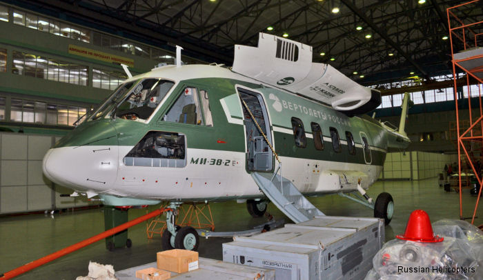 The Mi-38 <a href=/database/cn/39819/>4th prototype</a> at the Moscow Mil Helicopter Plant