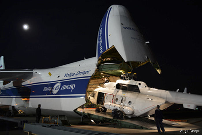 In response to the Ebola virus outbreak Volga-Dnepr transported 3 Mi-8 helicopters for the United Nations Mission for Ebola Emergency Response (UNMEER) in  Sierra Leone