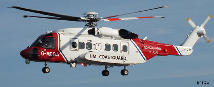 Milestone will provide Bristow 11 Sikorsky S-92 and one AW189 helicopters, a combined value of more US$420 million, for UK SAR services on behalf of the Maritime and Coastguard Agency (MCA) from 2015
