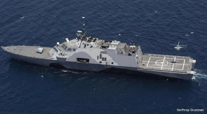 MQ-8B Fire Scout on  <a href=/database/unit/1982/>USS Freedom</a> (LCS-1). MH-60R Sea Hawk pilots can now count on increased surveillance with the UAV by their side