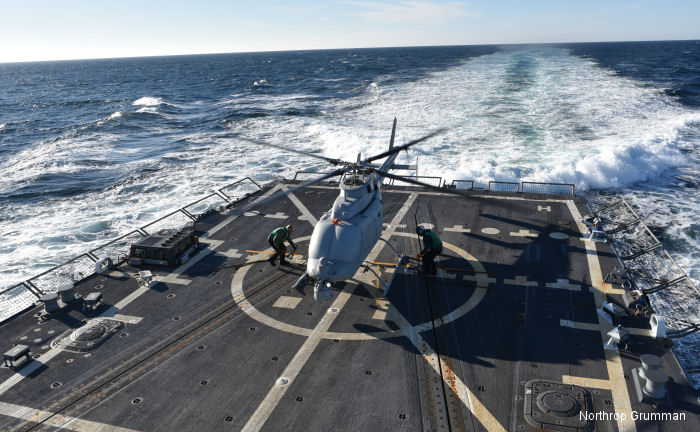 Northrop Grumman MQ-8C Fire Scout Takes First Flight on USS Jason Dunham