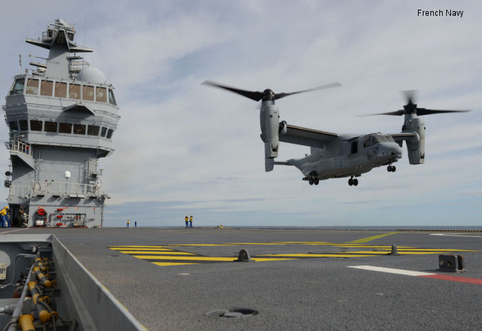 Marine MV-22 Osprey lands on French warship for first time