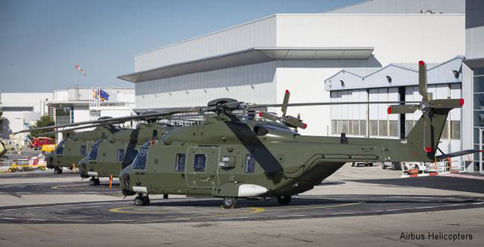 Belgium received the fourth and final NH90 Tactical Transport Helicopter (TTH). Belgium has ordered four NH90 TTH for army transport missions and four NH90 NFHs for Navy missions.