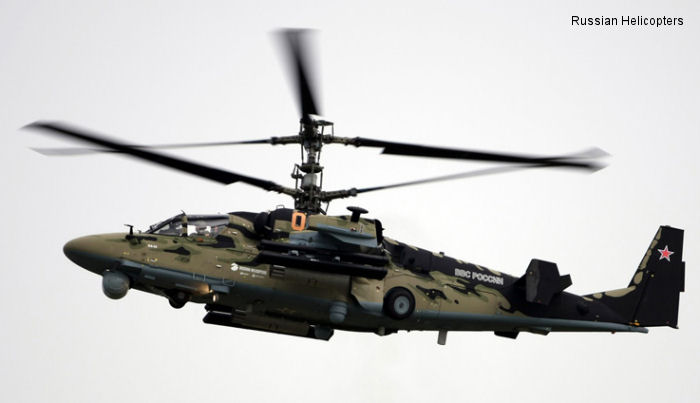 Russian Helicopters displays military helicopters at Singapore Airshow 2014