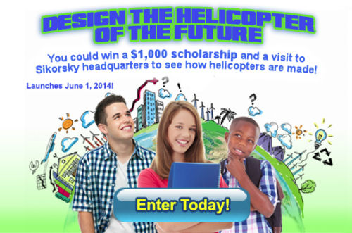 Sikorsky Challenges Kids to Create the Helicopter of the Future in Scholarship Competition
