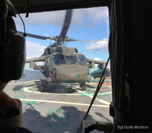 Army Helicopters train with USS Stethem (DDG-63)