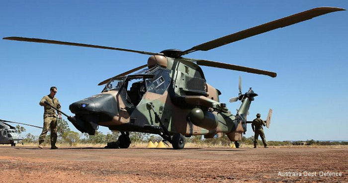 21 Tiger Armed Reconnaissance Helicopters in service with the Australian Army will received an interim Tactical Data Link upgrade by Elbit Systems Australia and Airbus Group Australia Pacific