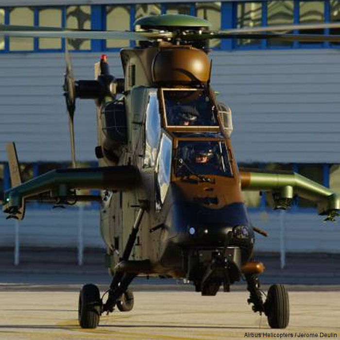 The first two attack helicopters Tiger HAD Block 2 version were delivered to the French Army (ALAT). Block 2 has new digital avionics, can carry external fuel tanks and are also navalized.