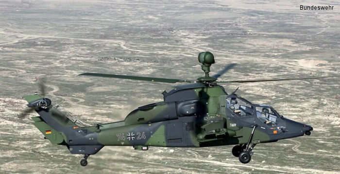 Airbus Helicopters delivers the German Army final upgraded Tiger support helicopter for deployment in Afghanistan