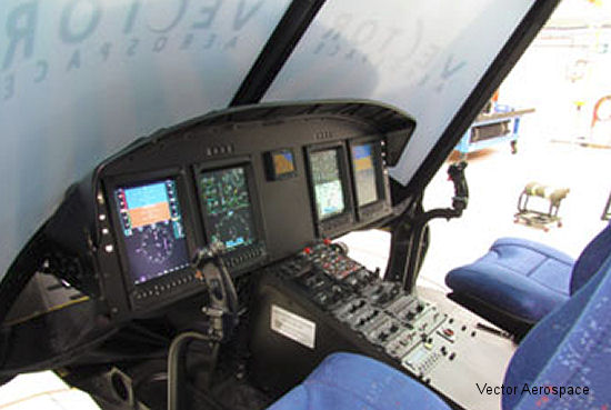 Vector Aerospace Helicopter Services – North America Displays Modified Integrated Cockpit at Heli-Expo 2014